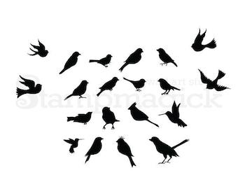 Flying Birds Wall Decor bird wall decal | etsy