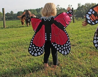 Monarch Butterfly Costume Dress Up Wings for Toddlers