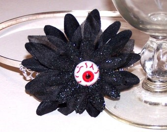 Look at You eyeball flower headband with glitter
