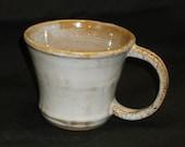 Mug Brown Clay Glazed with Pebble Beach