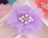 New! 4pcs Handmade Organza Flowers--hyacinth (FB1073)