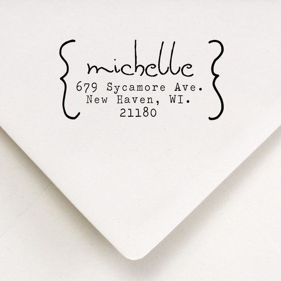 Custom Address Stamp - Housewarming Gift - Wedding - Thank You - Michelle Design