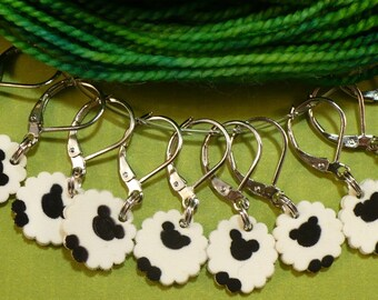 STITCHMARKERS for KNITTERS or CROCHETERS, Progress Keepers,  Counting Sheep, Count by 1s