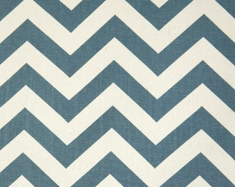 Destash CHEVRON Zig Zag Premier Prints Fabric by the Yard. DENIM BLUE Cotton Canvas Home Decor Fabric. Sewing Fabric. Home Decor Material.