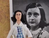 Anne Frank Doll Historical World War ll Miniature Figurine