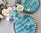 MOTHER of the BRIDE gift- PERSONALIZED, Mother of groom gift, love your son whole life, thank you gift, love you today, tomorrow always mint