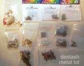 DESTASH Metal Lot Beads Charms Connectors Pins