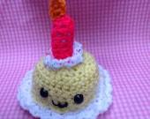 Amigurumi birthday cake kawaii