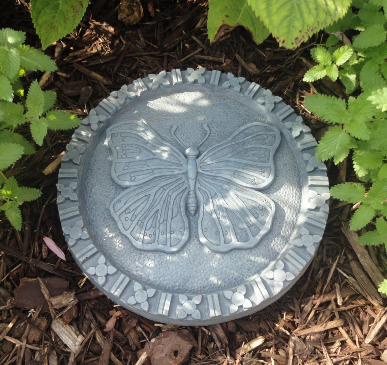 concrete butterfly stepping stones bluestone garden