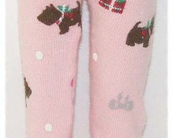Pink Tights With Scottie Dogs For Blythe...One Pair Per Listing...