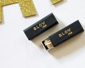 Gold Foil Matches - Blow Me - Foil Stamped - Funny Gift - Black and Gold - Set of 3