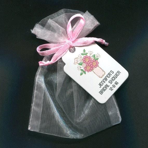 Bridal Shower Favor Bags - Bridal Shower Favor - Favor Tag - Favor Bag ...