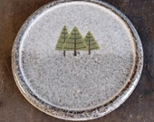 Large Grey Pine Tree Coaster