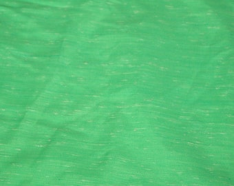 SALE vintage 70s print fabric, featuring great textured green and white subtle design, 1 yard, 2 available, priced PER YARD