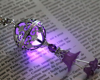 Necklace - Locket with glowing Orb