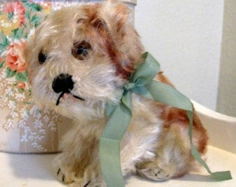 Steiff Molly from 1950's Stuffed Animal Toy Dog Puppy