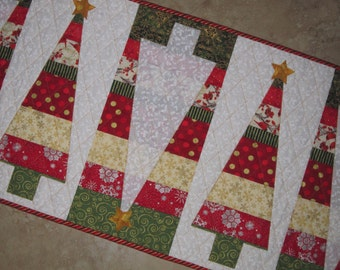 Modern STRIPES Christmas Tree Table Runner Wonderful Colorful Holiday Gift