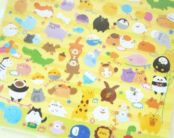 1 Sheet  / Kawaii Animals