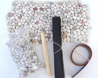 Miniature Garden Supply Kit for Miniature Garden or Fairy Garden, Borders, Stakes, Stone Sheets, Mini Pebbles, Mesh