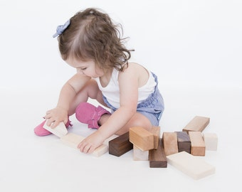 Building Blocks Toy - Triangle Block Set - Assorted Wood Blocks - First Blocks - Toddler Toy - Classic Building Blocks - BL21