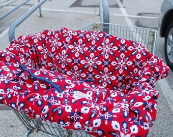 Shopping Cart cover  for boy or girl..... Red and Blue Bandana