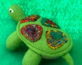 On SALE 15% OFF original price. Small Needle Felted Turtle Soft Sculpture Table Top Decor