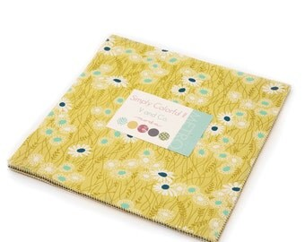 SALE!!  Simply Colorful II Junior Layer Cake in Green (10850JLCG) by V and Co.