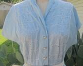 1950's Cotton Day Dress Rockabilly VLV