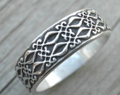 MADE TO ORDER Frances Ring Sterling Silver Band Stacking Ring