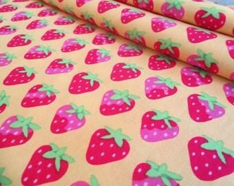 SALE -- Yellow Strawberries - Sunrise Studio - Lakehouse Drygoods - LH14046YLW - Cotton Fabric