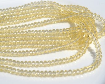 Pale Yellow 3x2mm Faceted Czech GLass ROndelles 50