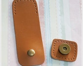 1 sets of Genuine Leather magnetic snap closure Bag Supply - 9 Colors -