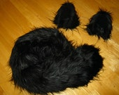 Last One Black Wolf  Costume - Black Wolf Ears and Black Wolf Tail-Anime, Fantasy, Cosplay. Burning Man, Halloween