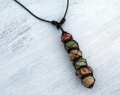 50% OFF Simplicity...Ceramic, Copper and Leather Necklace