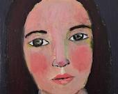 Digital Print. Woman Portrait Art Painting. Home Wall Decor. Woman Art Print. Gift for Women. Sheryl