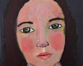 Woman Portrait Art Painting Print. Home Wall Decor. Woman Art Print. Gift for Women. Sheryl