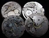Steampunk Watch Movements Vintage Antique Round  Altered Art Assemblage Q 98