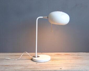 Mod White Italian Metal Table Lamp