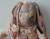 Vintage Patchwork Quilt Stuffed Rabbit