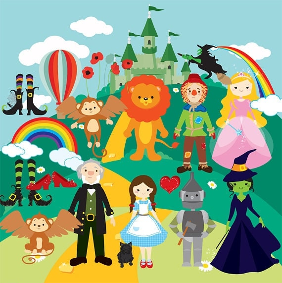 Clip Art Wizard Of Oz Clips flying monkey etsy wizard of oz clipart clip art dorothy scarecrow cowardly lion tin man wicked witch emerald castle rainbows shoes ruby monkeys