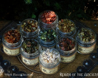 Resins of the Ancients . Old World Alchemy All-Natural Resins . Choose from 14 Magical Intents