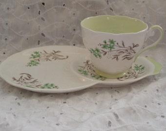 Vintage Royal Standard Gaiety Snack Set ~ Teacup Plate ~ Cup Hostess Tennis Tea Toast Breakfast Lunch