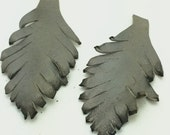 Two Gray Leather Feathers 046