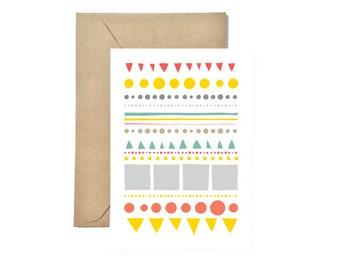 Geometric Greeting Card, Thank you Cards, Birthday Cards, Weeding Card box, Congratulation Card, Anniversary Card, Valentine's Day Card