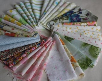 Vintage Fabric 5 x 5 Charm Pack of 34 Pieces
