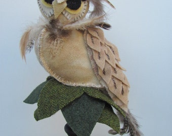 """Owl Pincushion """"Morris"""""""