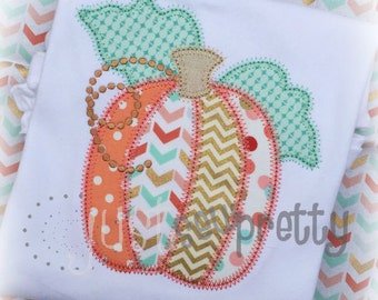 Vintage Pumpkin Applique Design