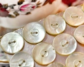 Vintage Mother of Pearl Buttons - Abalone Shell - Pearl Buttons - Nacre - Sewing Supplies - Craft Supplies - Sewing Notions