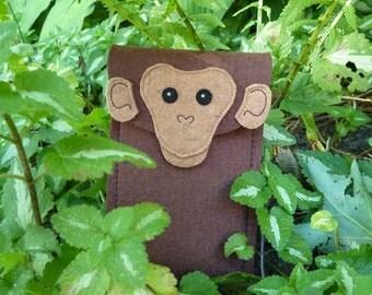 Standard Monkey iPhone 7 Plus, 7, 6 Plus, 6S Plus, 6, 6S, SE, 5, 5S and 5C case - Chimp cell phone wristlet