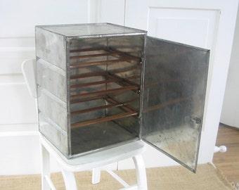 Vintage Metal Cabinet, Pie Safe, Industrial Cabinet, Primitive Cabinet, Antique Pie Safe, Vintage Rack, Bathroom Storage